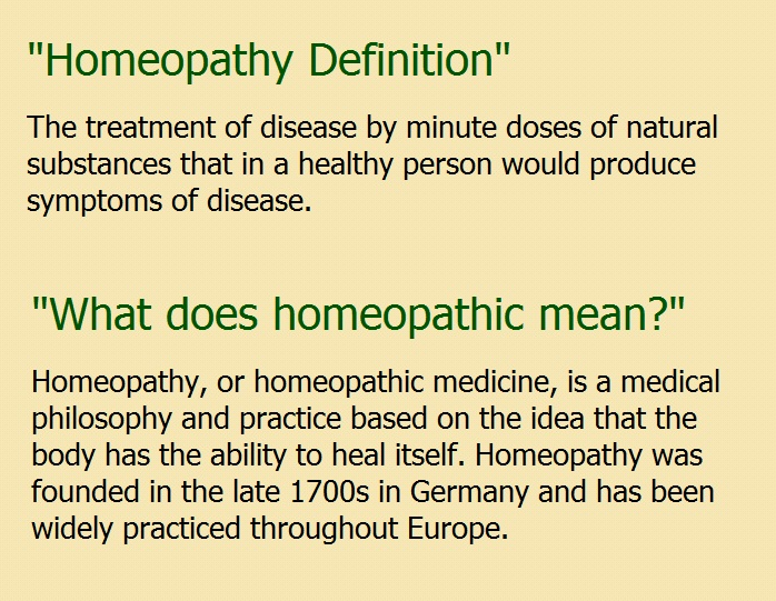 Homeopathy-Definition